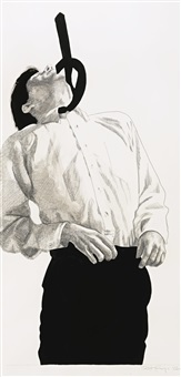 untitled (study for men in the cities) by robert longo