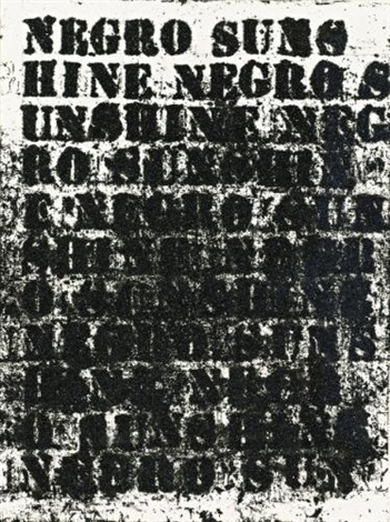 study for negro sunshine 75 by glenn ligon
