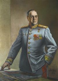 portrait of marshal zhukov by vasili nikolaevich yakovlev