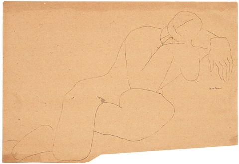 untitled nude study by louise nevelson