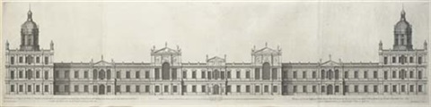 design for the royal palace at whitehall as it was presented to his majesty king charles i by inigo jones 3 others set of 4 by hendrick hulsbergh