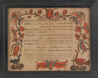 untitled (fraktur birth certificate) by arnold hoevelmann