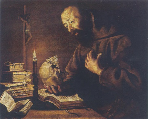 saint francis at prayer by trophîme theophisme bigot the elder