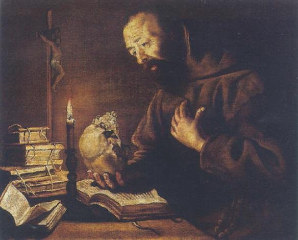 saint francis at prayer by trophîme theophisme bigot the elder