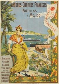 cie gle transatlantique/vapores correos franceses by fernand le quesne