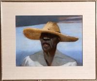 study for portrait of general by julio larraz