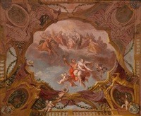 szene aus der griechischen mythologie (sketch for ceiling painting) by daniel gran