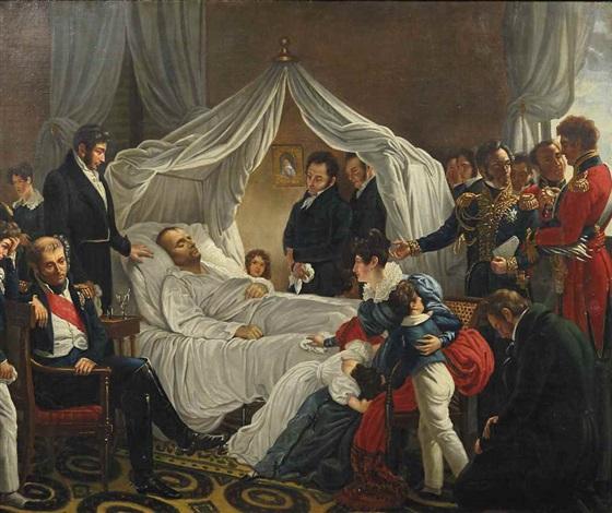 Napoléon Ier sur son lit de mort à Sainte-Hélène, le 5 mai 1821 by Charles  Auguste Guillaume Steuben on artnet