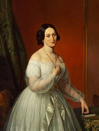 portrait of clotildis natalie septima in a white dress by emilius baerentzen