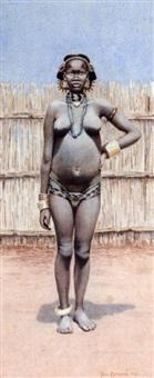 portrait d'africaine by paul reichard