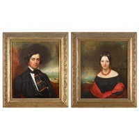 portrait of a lady and a gentleman (2 works) by allan o. smith