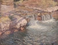 paesaggio con fiume by francisco gimeno arasa