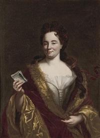 bildnis einer jungen adeligen dame mit einem billet by giovanni maria delle piane