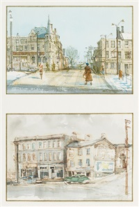 guelph street (+ buildings; 2 works in 1 frame) by evan weekes macdonald