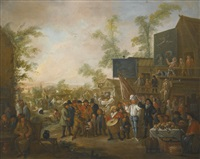 a village kermesse by egbert van heemskerck the younger