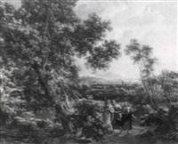 christus und die jünger auf dem gang nach emmaus by johann samuel hoetzendorf