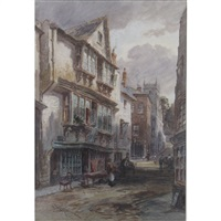 dartmouth street scenes with figures by alfred leyman