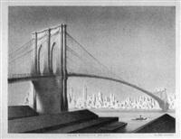dawn, brooklyn bridge by ellison hoover