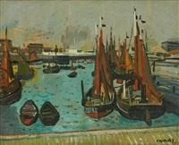 le port de pêche by gustave camus