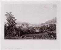 vista da colina mata cavalos em direção ao aqueduto do rio de janeiro by thomas ender