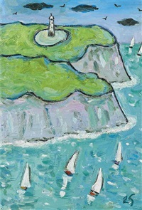 sailing boats by joan gillchrest