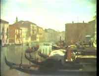 canale grande in venedig. by carl libert august lentz