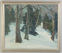 winter wood interior by emile albert gruppe