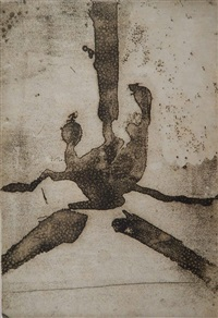 paroles peintes iii: untitled by robert motherwell