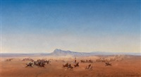 reitergefecht zwischen arabern und französischer kolonial-kavallerie (chasseurs d'afrique) by henrik august ankarcrona