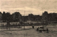 shipping on the singel, amsterdam, with the haarlemmersluis by felicien bobeldyk