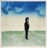 man in landscape by saul steinberg