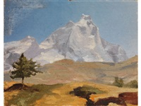 blick auf einen berggipfel by oreste albertini
