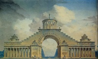 project for a triumphal arch by antoine voinier