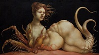 nude with crab pincers by heinz zander