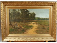 la halte, le long du bois by jean mayne
