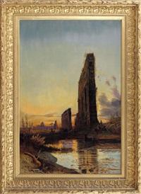 acquedotto con paesaggio romano sullo sfondo by hermann david salomon corrodi