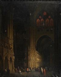 interior de catedral gótica by genaro perez villaamil