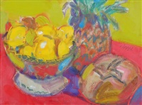 still life with pineapple by gordon bryce