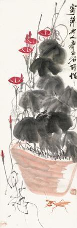 牵牛草虫 by qi baishi