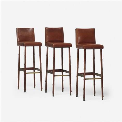 Bar Stools Set Of 3 By Jacques Adnet