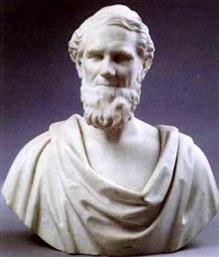 portrait bust of a bearded and classically draped male by john adams jackson