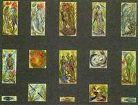 entwurfszeichnungen für ein mosaik by anton krejcar