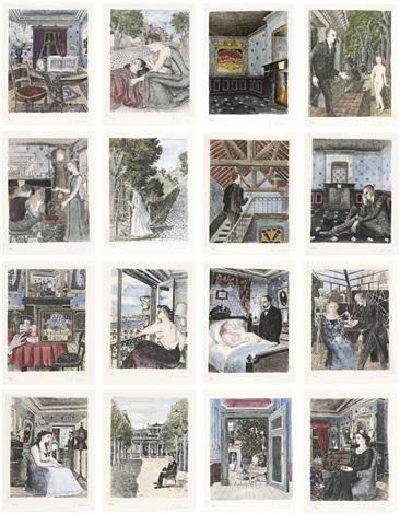 Le laid lorage les derniers beaux jours set of 16 by for Paul delvaux le miroir
