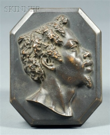 bust plaque of a man in profile by john quincy adams ward