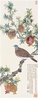 多子图 镜片 设色纸本 ( bird) by liu bonong