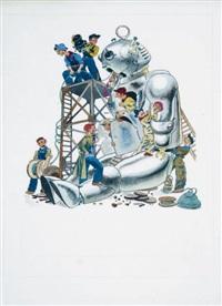 les mécaniciens du robot (from la croisière du nébulor) by guy sabran