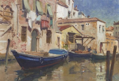 venetian canal by terence cuneo