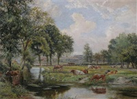 cattle by a river by edwin young