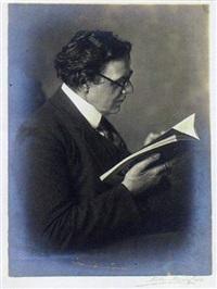 portrait des dichters karl wolfskehl by theodor hilsdorf