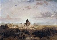 napoleon zu pferd nach der schlacht by auguste viande